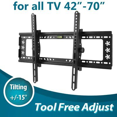 "42-70"" inch LCD LED Plasma TV XL Large Slim Tilt Wall Mount Bracket Up to 75kgDO"