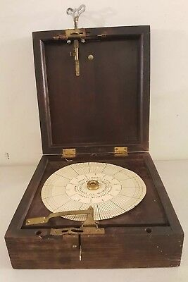 Antique Chicago Watchmans Clock Co. Boxed Guard's Mechanical Recording Device