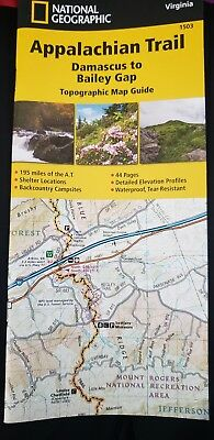 NATIONAL GEOGRAPHIC APPALACHIAN Trail Wall Map Boxed $18 29