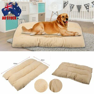 XL Large Dog Cat Mat Warm Soft Puppy Pets Bed Mattress Cushion Pillow Mat AU HOT
