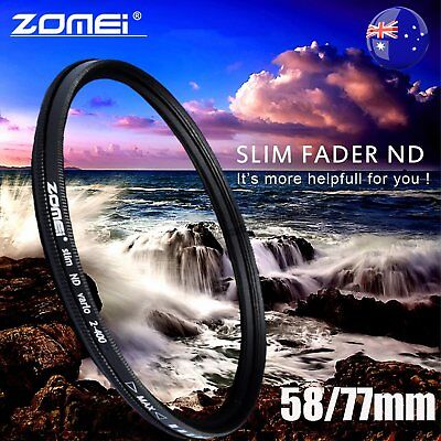 ZOMEI 58/77mm Neutral Density Fader Adjustable Variable ND Filter ND2,ND4-400 BG