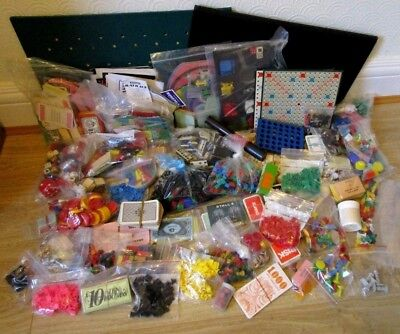 Massive job lot of spares & pieces for vintage games - 7.5kg in weight