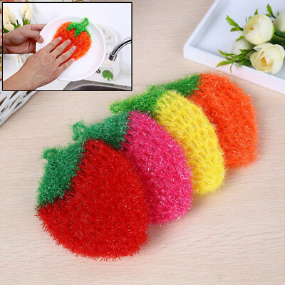 Stawberry acrylic fibers dish wash cloth clean towel for kitchens random weaving