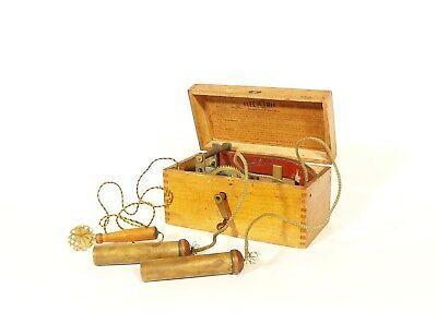 "1895 Knapp's ""Little Doctor"" * Smallest Wood-Cased Magneto Electric Machine"