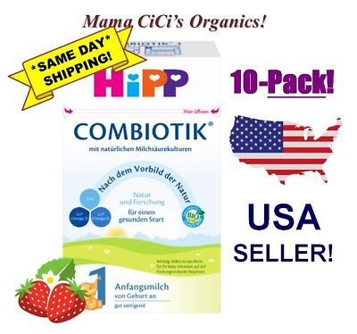 *FREE EXPEDITED SHIP* 10 BOXES HiPP Stage 1 Organic First Infant Milk Combiotic