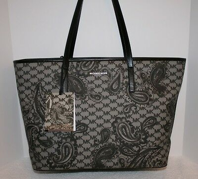 31941aee1baa MICHAEL KORS STUDIO Paisley Emry Large Coated Canvas Top Zip Tote ...