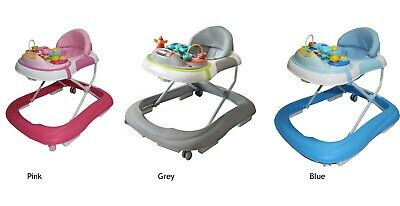 Baby Walker with Music & Lights  Pink Blue  Grey  *****