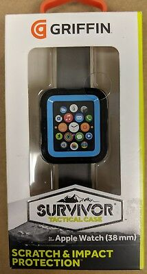 Griffin Technology - Survivor Tactical Cover for Apple Watch 38mm - Blue