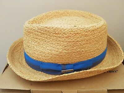 65dbcc73 BILL MEN'S WOMEN'S Summer Retro Straw Porkpie Hat - £55.00 | PicClick UK