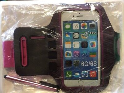 sports armband/ Money Holder/ Jogging Case For IPhone 6s Pink/Black