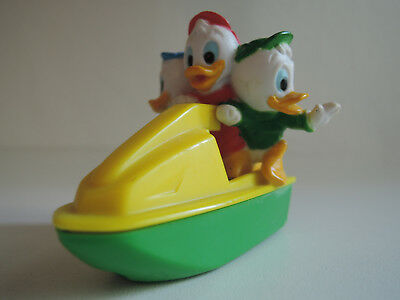 Mc Donalds Ducktales Tick, Trick & Track auf einem Jet Ski 1980er Happy Meal