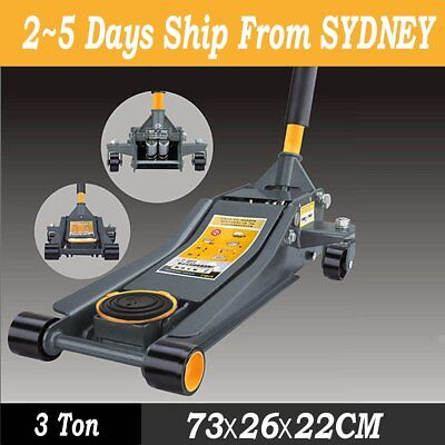 3 Ton Lifting Capacity Quick Trolley Jack Double Pump Hydraulic Low Profile SAA
