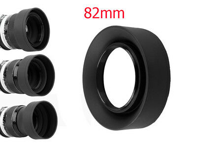 82mm 3-Stage Collapsible Rubber Hood for lens with 82mm screw thread UK SELLER!!