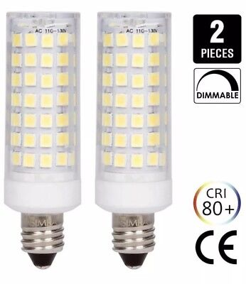 2 Pack Simba Lighting LED E11 6 W Watt 120 Volt 600K Dimmable Replaces Halogen