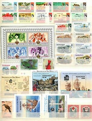Bahamas 1917 – 1992 * 33 Mnh/mint Stamps * Inc Silver Jubilee & Other Souvenirs