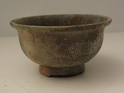 Antique Tibetan  Buddhist Extra Large Brass Offering Bowl