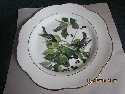 ROYAL WORCESTER FINE BONE CHINA DECORATIVE PLATE, birds and berries