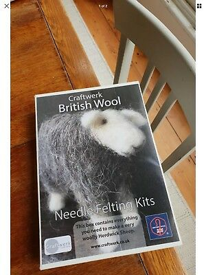 Herdwick British Rare Breeds sheep  needle felt kit British Wool craftwerk