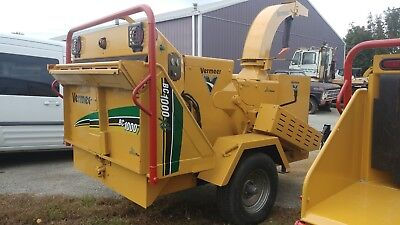 2010 Vermeer Bc1000Xl Diesel Wood Chipper Drum Chipper 1242 Low Hours 1 Owner