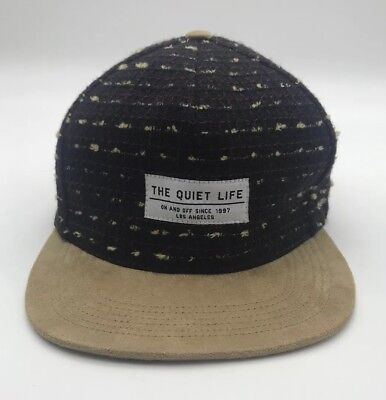 The Quiet Life Leather Strap Hat Multi Suede Brim LA USA Streetwear Plaid  Black 76f80375f320