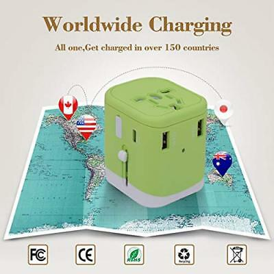 Travel Adapter, 2000W International Power Adapter, All in One Universal Adapter
