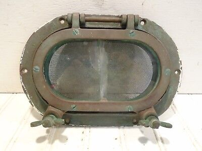 "Antique Small Oval Porthole - Cast Bronze 6-1/2"" x 9-1/2"""