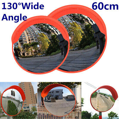 【AU】60cm/24'' Round Convex Mirror Blind Spot Safety Traffic Driveway Wide Angle