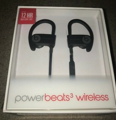 Dre Beats Powerbeats 3 Wireless Ear Hook Bluetooth Headphones - Black