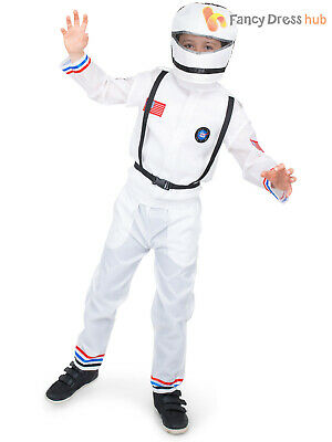 Boys Astronaut Costume Child Space Uniform Fancy Dress Kids Book Week Day Outfit