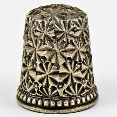 Antique Ketcham & Mcdougall Pinwheel Size 8 Sterling Silver Sewing Thimble