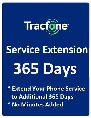 TracFone Service Extension 1 Year / 365 Days for TracFone Branded Phones,NO BYOP