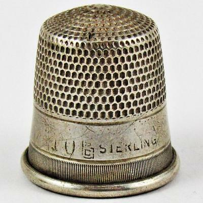Antique Goldsmith, Stern & Co. Plain Size 10 Sterling Silver Sewing Thimble