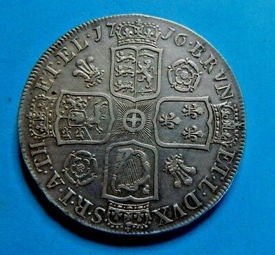 Very Nice 1716 George 1St Roses And Plumes Silver Crown ,high Grade .secvndo