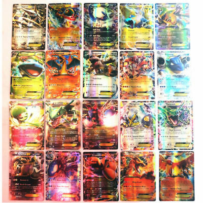 Pokemon 100 PCS Flash Rare High Wars HP Energy EX + GX + Mega Card USA