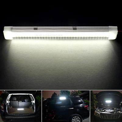 1pcs 12V 72 LED Car Interior White Strip Lights Bar Lamp Van Caravan ON OFF