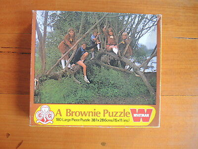 Whitman A Brownie Puzzle Girl Guide 1976 Rare VINTAGE puzzle
