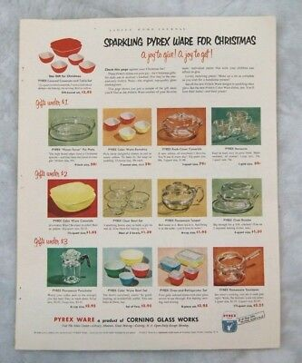 1951 PYREX Advertisement Christmas Ad Xmas
