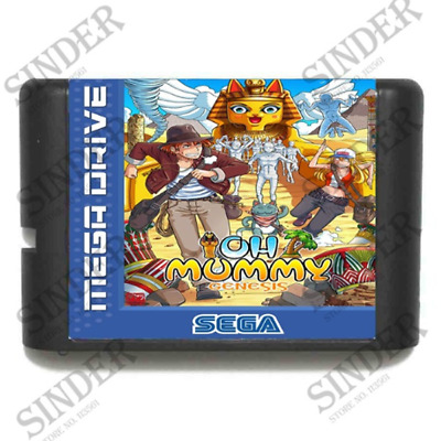 OH Mummy 16 bit MD Game Card For Sega Mega Drive For Genesis