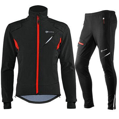 RockBros Winter Cycling Thermal Warm Windproof Suit Outdoor Jersey & Pants