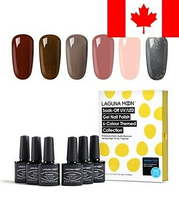 Lagunamoon UV/LED Gel Nail Polish Set - Classic Elegant Colors Soak Off Nail ...