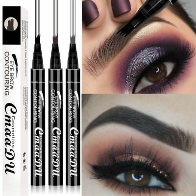 Microblading Tattoo Eyebrow Liquid Ink Pen Waterproof 4-Fork Pencil Brow Definer