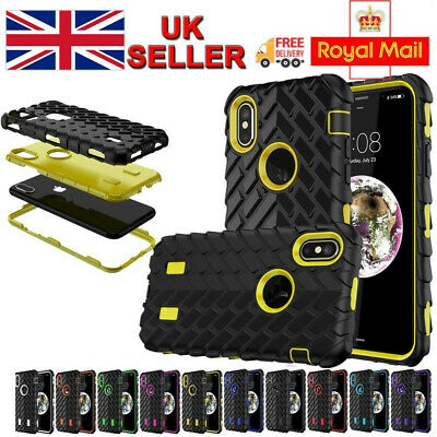 For iPhone XS 8 7 Plus Armor Shockproof Heavy Duty Rugged Rubber Skin Case Cover