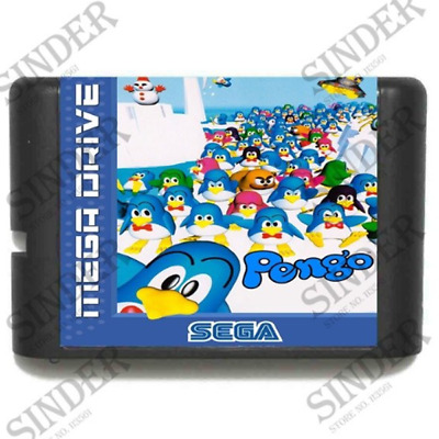 Pengo 16 bit MD Game Card For Sega Mega Drive