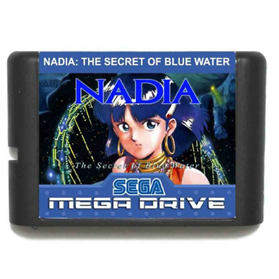 Nadia 16 bit MD Game Card For Sega Mega Drive For Genesis