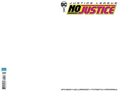 Justice League No Justice #1 Blank Variant Dc Vfn/nm First Print 2018