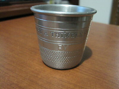 LG pewter thimble shotglass  SHEFFIELD ENGLAND
