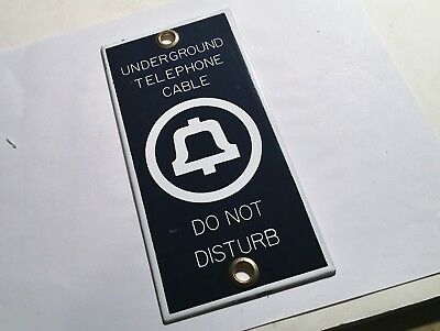 """Vintage 1950's Bell Telephone """"Do Not Disturb"""" Porcelain Sign Unused And Beauty!"""