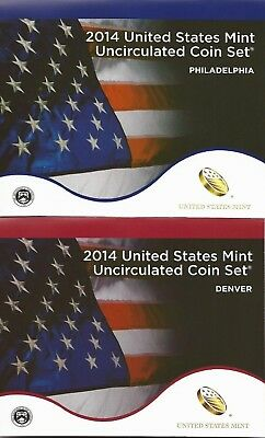2014-P&d~Us Mint~~28 Coin  Uncirculated Set~~W/national Parks & Presidents~~Ogp