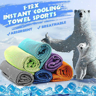 Instant Cooling Towel Reusable Chill Cool Portable Sports Running Jogging Hiking