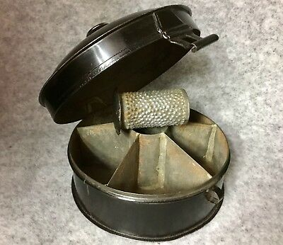 Antique toleware Spice Tin With Nutmeg Grater  Spice Box Great Xmas Gift